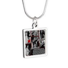For Brenda Silver Square Necklace