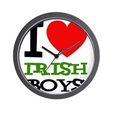 i-love-d-black-irish Wall Clock
