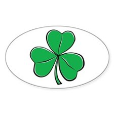 Shamrock Oval Decal