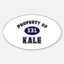 Property of kale Oval Decal