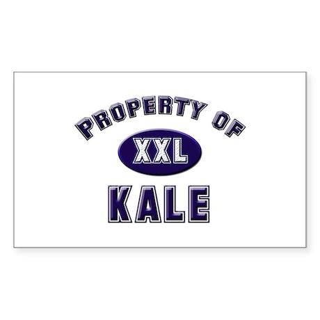 Property of kale Rectangle Sticker