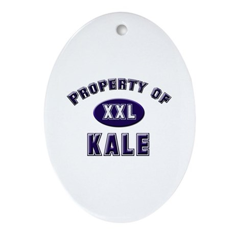Property of kale Oval Ornament