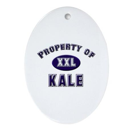 Property of kale Oval Ornament