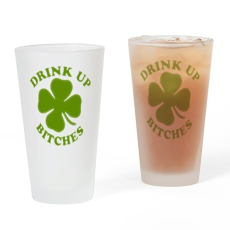 clovers Drinking Glass