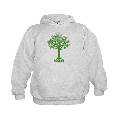TREE hugger (dark green) Kids Hoodie