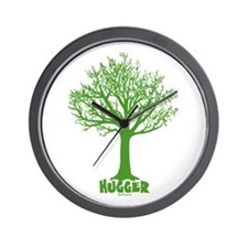 TREE hugger (dark green) Wall Clock