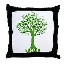TREE hugger (dark green) Throw Pillow