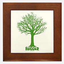 TREE hugger (dark green) Framed Tile
