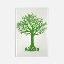 TREE hugger (dark green) Rectangle Magnet