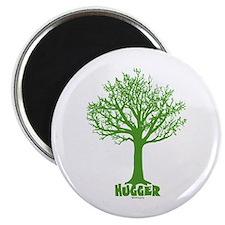 """TREE hugger (dark green) 2.25"""" Magnet (10 pack)"""