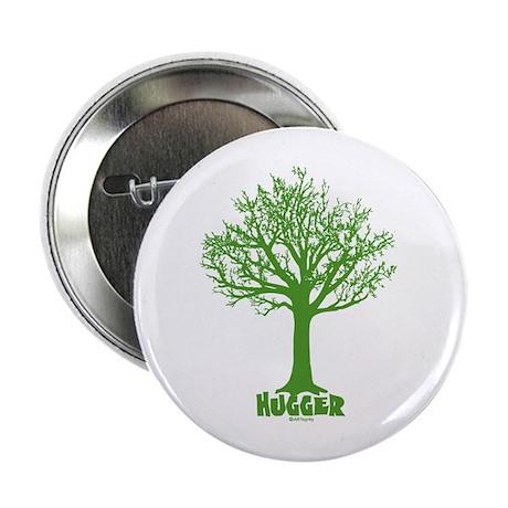 """TREE hugger (dark green) 2.25"""" Button"""