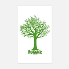 TREE hugger (dark green) Rectangle Decal