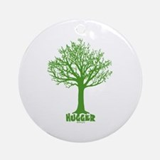 TREE hugger (dark green) Ornament (Round)