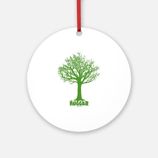 TREE hugger (dark green) Ornament (Round)