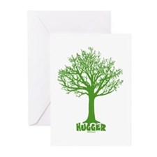 TREE hugger (dark green) Greeting Cards (Pk of 10)