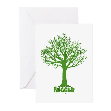 TREE hugger (dark green) Greeting Cards (Pk of 10)