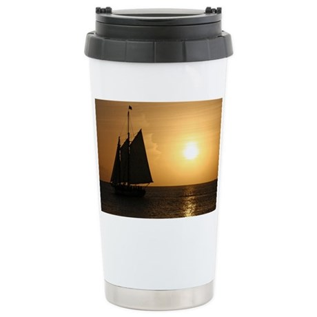 small cruise poster Stainless Steel Travel Mug