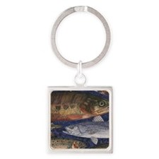 Trout Square Keychain
