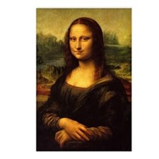 da vinci mona lisa Postcards (Package of 8)
