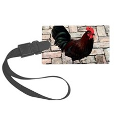 small rooster poster Luggage Tag