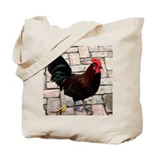 small rooster poster Tote Bag