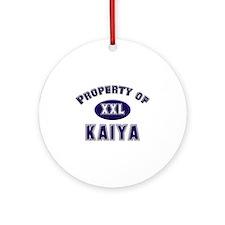 Property of kaiya Ornament (Round)