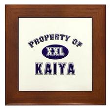 Property of kaiya Framed Tile