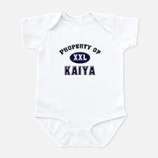Property of kaiya Infant Bodysuit