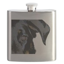Beauceron Graphic Flask