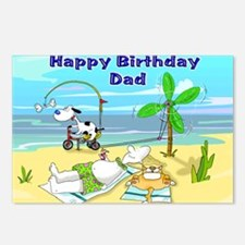 Happy Birtday Dad,beach Postcards (Package of 8)