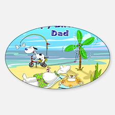 Happy Birtday Dad,beach Decal