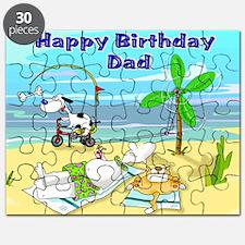 Happy Birtday Dad,beach Puzzle