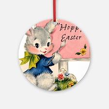 HOPPY Easter Round Ornament