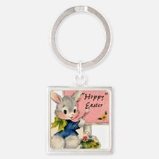 HOPPY Easter Square Keychain