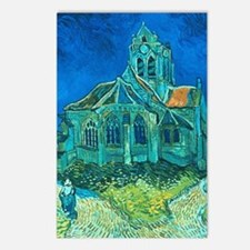 van gogh church Postcards (Package of 8)