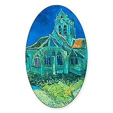 van gogh church Decal