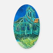 van gogh church Oval Car Magnet
