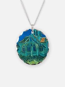 van gogh church Necklace
