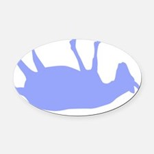 fainting goat_single_Blue Oval Car Magnet