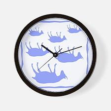 fainting goat_sq_Blue Wall Clock