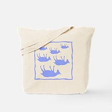 fainting goat_sq_Blue Tote Bag