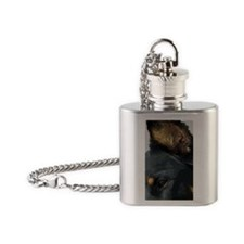 Beauceron Graphic 7 Flask Necklace