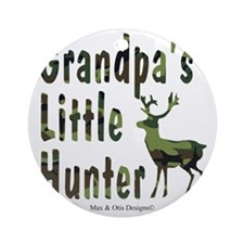grandpas-little-hunter Round Ornament