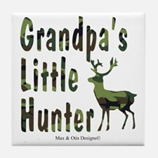 grandpas-little-hunter Tile Coaster