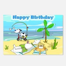 Happy Birthday,Beach Postcards (Package of 8)