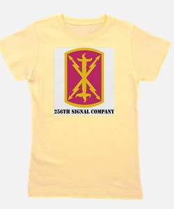 DUI - 256th Signal Coy With Text Girl's Tee