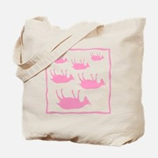 fainting goat_sq_Pink Tote Bag