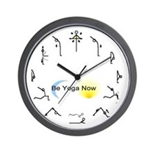 Be Yoga Now Wall Clock