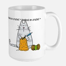 Hooked on crochet II Large Mug