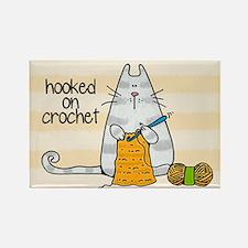 Hooked on crochet II Rectangle Magnet